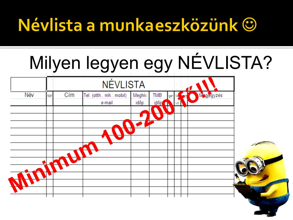 Minimum 100-200 fő!!!