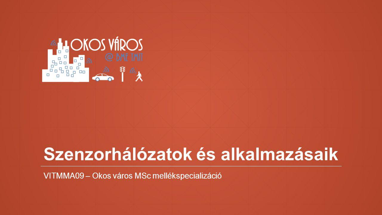 Szenzorhálózatok és alkalmazásaik VITMMA09 – Okos város MSc mellékspecializáció