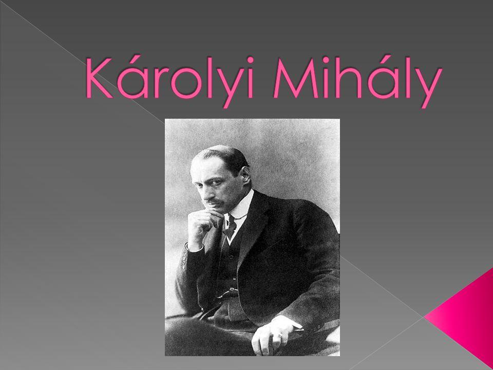  Károlyi Mihály gróf, teljes nevén: nagykárolyi Károlyi Mihály Ádám György Miklós  az első magyar köztársasági elnök  A második világháború után több évtizedes emigrációból hazatérve rövid ideig nagykövet volt  1949-től haláláig szintén francia emigrációban élt.