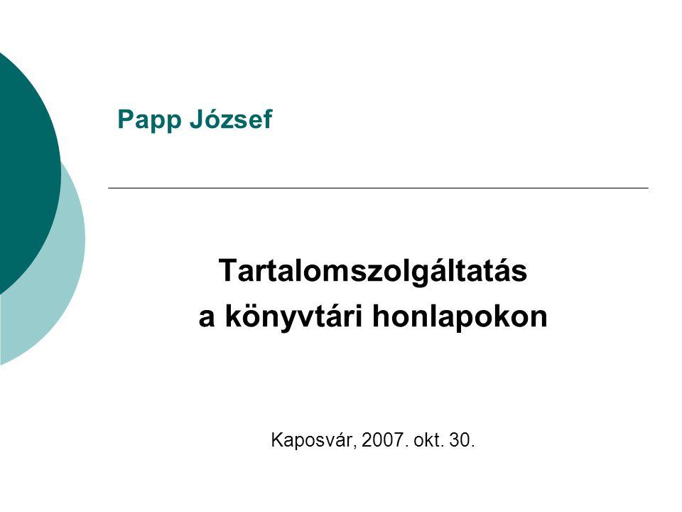 A könyvtár magyar nyelvű honlapja