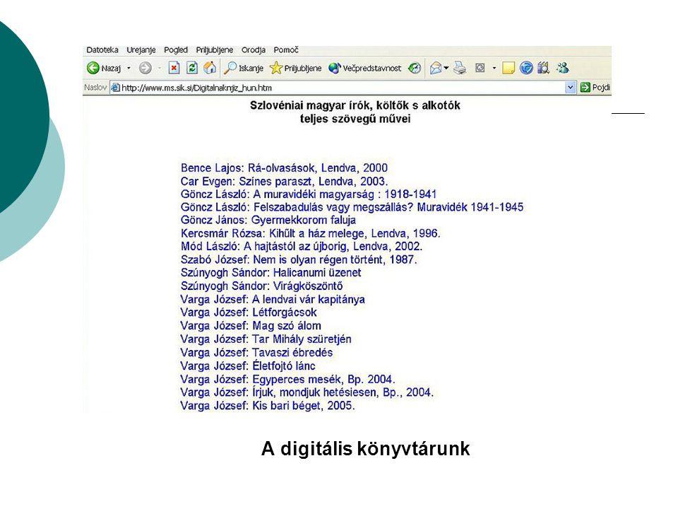 A digitális könyvtárunk