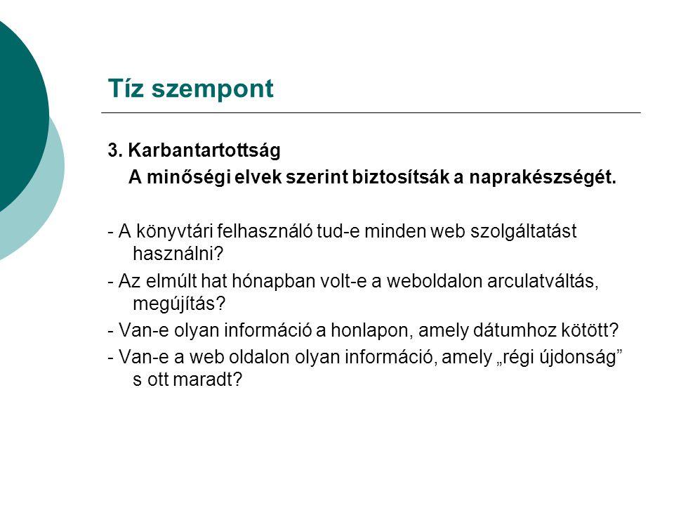 Tíz szempont 4.