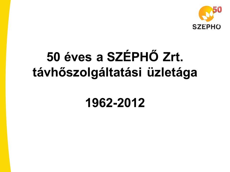 50 éves a SZÉPHŐ Zrt. távhőszolgáltatási üzletága 1962-2012