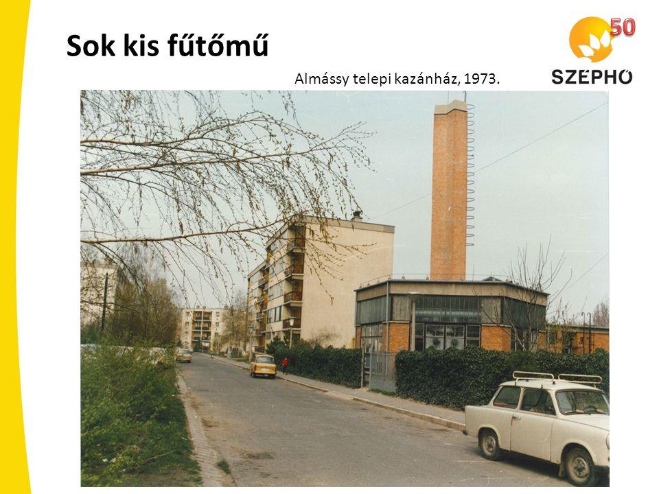 Sok kis fűtőmű Almássy telepi kazánház, 1973.