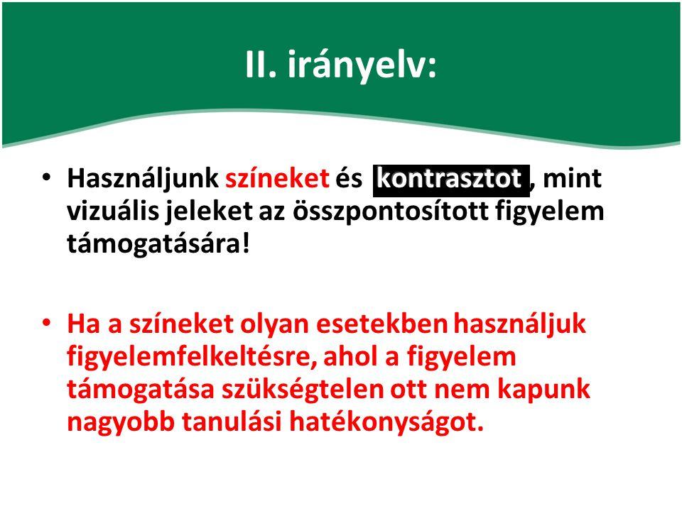 II. irányelv:
