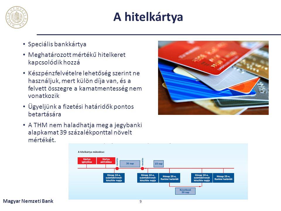 A bankkártya és a hitelkártya Magyar Nemzeti Bank 10 Egyszer azt is ki kell fizetni, ami ajándéknak tűnik.