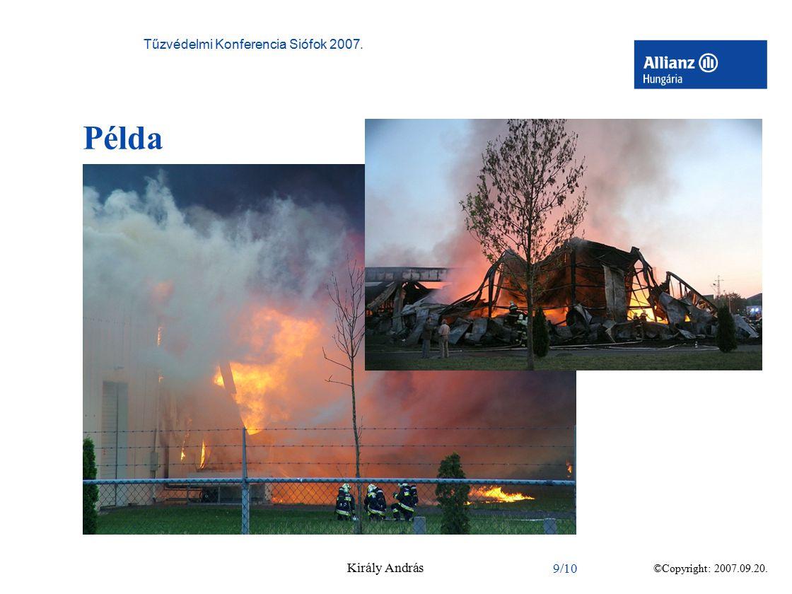 ©Copyright: 2007.09.20. Tűzvédelmi Konferencia Siófok 2007. Király András 9/10 Példa