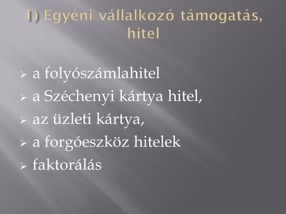 A Széchenyi Kártya a mikro-, kis- és középvállalkozások számára létrehozott, kedvezményes kamatozású, állami támogatásban részesített hiteltípus.