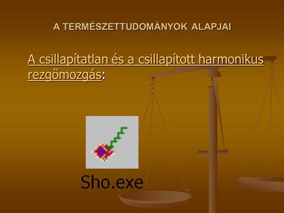 A TERMÉSZETTUDOMÁNYOK ALAPJAI A csillapítatlan és a csillapított harmonikus rezgőmozgásA csillapítatlan és a csillapított harmonikus rezgőmozgás: A cs