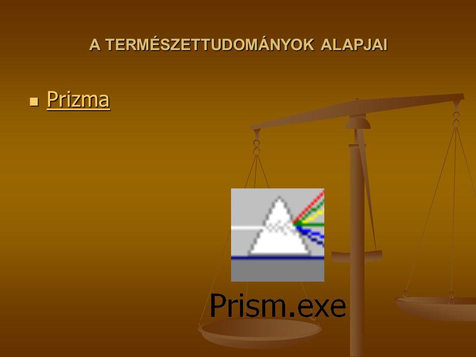 A TERMÉSZETTUDOMÁNYOK ALAPJAI Prizma Prizma Prizma