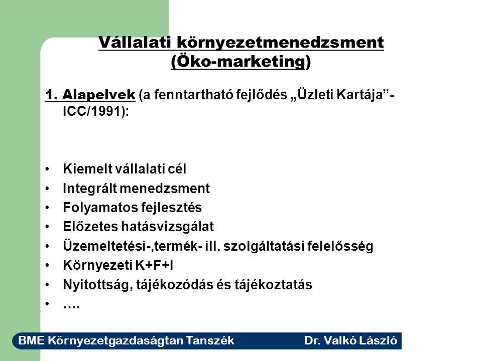 Vállalati környezetmenedzsment (Öko-marketing) 1.