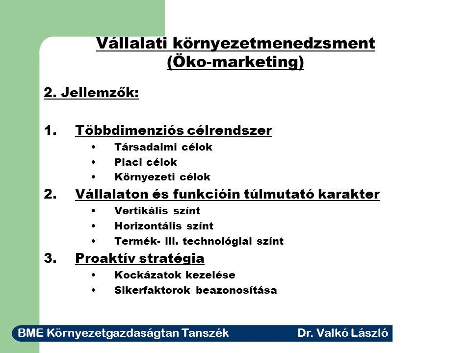 Vállalati környezetmenedzsment (Öko-marketing) 3.