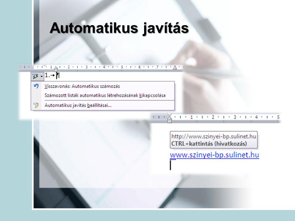 Automatikus javítás