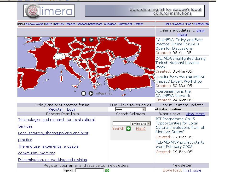 Ugrás az első oldalra 6.1.Calimera webhely --EU-fejlesztési programok --Munkacsomagok --Országjelentések --Beszámolók www.calimera.org