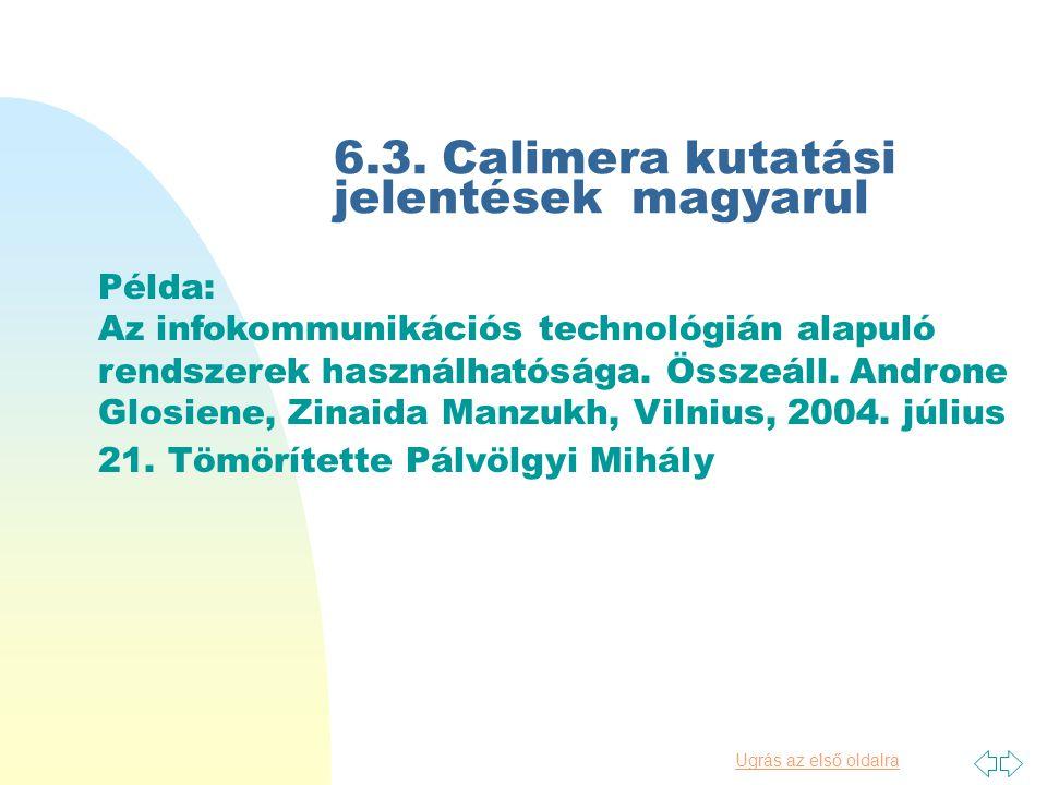 6.2. Calimera útmutató Kulturális alkalmazások: elektronikus forrásokat közvetítő helyi intézmények útmutatója magyar fordításban (1) Társadalompoliti