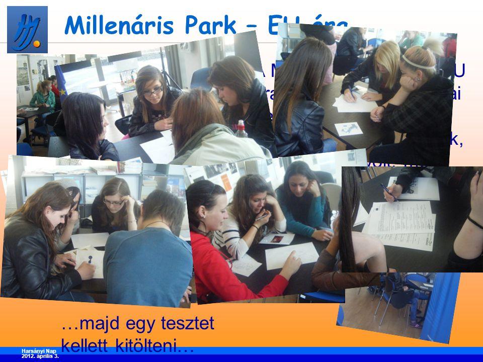 Millenáris Park – EU óra A Millenárisban tartott EU óra keretében az európai helyzetekről, Európa sokféleségéről hallottunk, ami hasznos volt, mert sok újdonságot és meglepő adatot tudtunk meg belőle.
