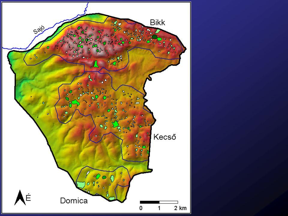 Töbrök elhelyezkedése a geológiai térképen