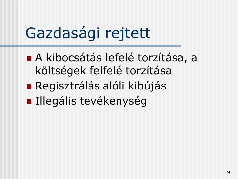 20 A korrekciós típusok leírása (N1- N7) N2: Illegális termelők, akik nem regisztráltak Az olyan termelők tevékenységét tartalmazza, akik illegális termelő tevékenységben vesznek részt és nem regisztráltak.
