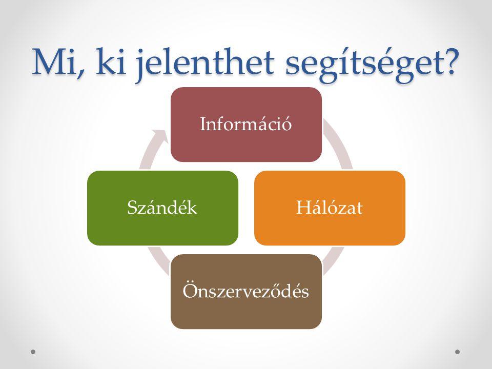 Mi, ki jelenthet segítséget? InformációHálózatÖnszerveződésSzándék