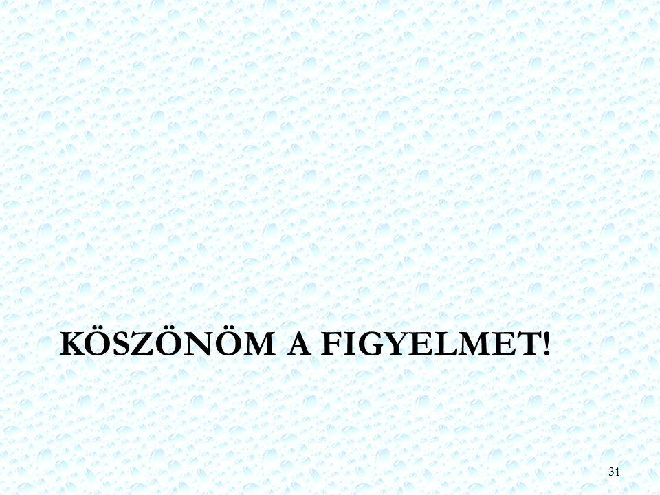 KÖSZÖNÖM A FIGYELMET! 31