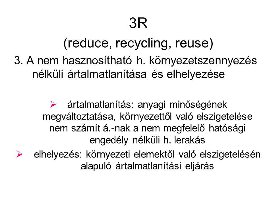 3R (reduce, recycling, reuse) 3.A nem hasznosítható h.