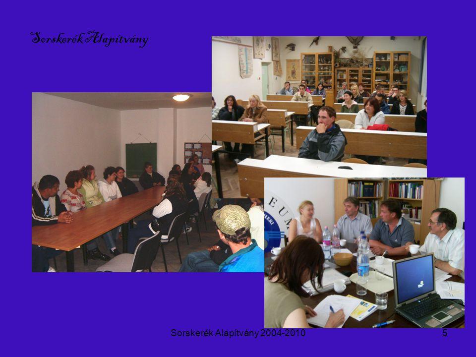 Sorskerék Alapítvány 2004-20106 Sorskerék Alapítvány Szociális gazdaságban együttműködés
