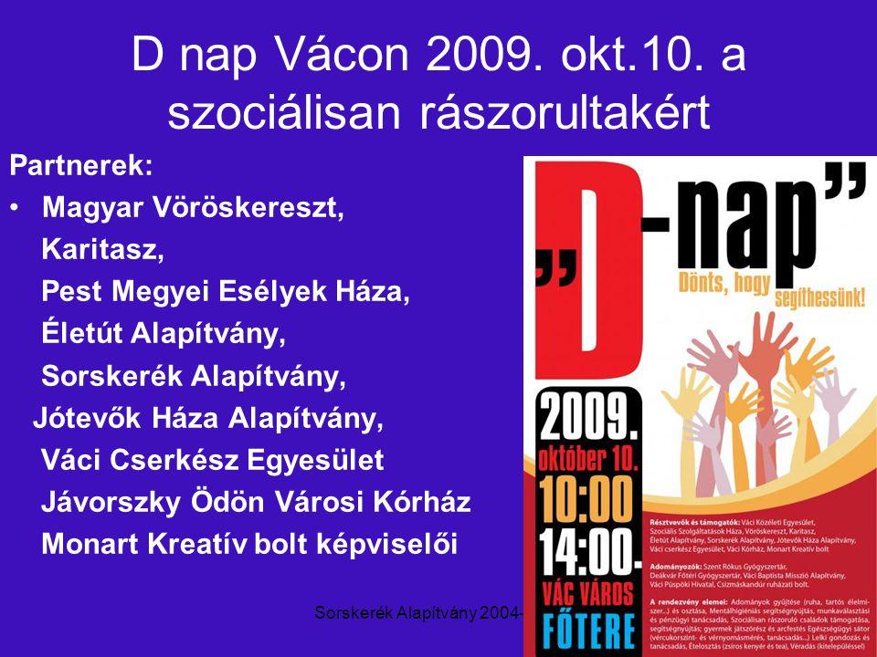 Sorskerék Alapítvány 2004-20109 D nap Vácon 2009. okt.10.