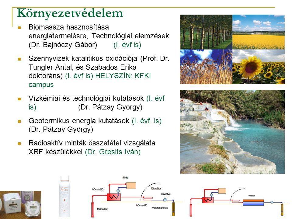 Környezetvédelem Biomassza hasznosítása energiatermelésre, Technológiai elemzések (Dr. Bajnóczy Gábor) (I. évf is) Szennyvizek katalitikus oxidációja