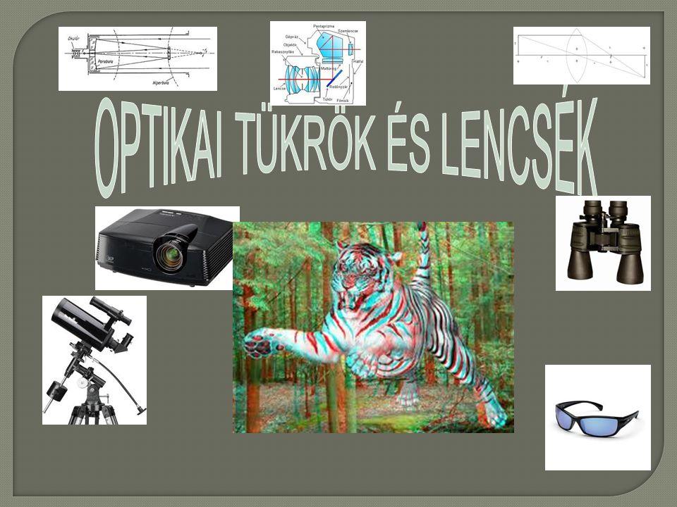 A nagyítás:A leképezési törvény: t 1 k 1 f 1  T K t k N  tárgy (T) kép (K) képtávolságképtávolság (k) tárgytávolságtárgytávolság (t) fókusztávolságfókusztávolság (f) 2FFOF