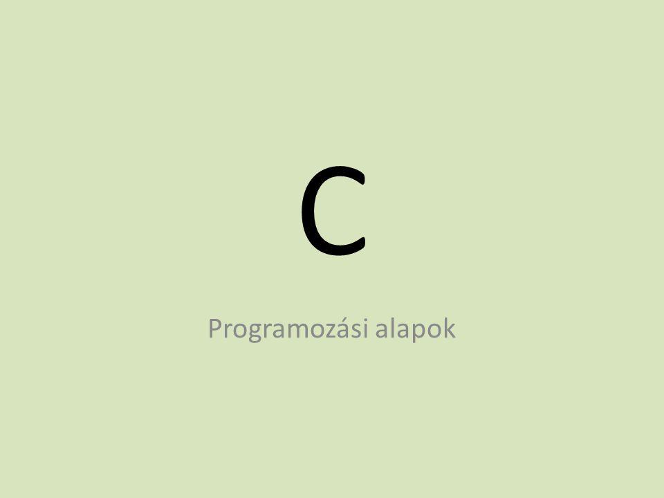 A C nyelv jelkészlete A nem látható karakterek közzül ide tartozik még a szóköz, a vízzszintes és függőleges tabulátor, a soremelés, és a lapdobás karakterek is.