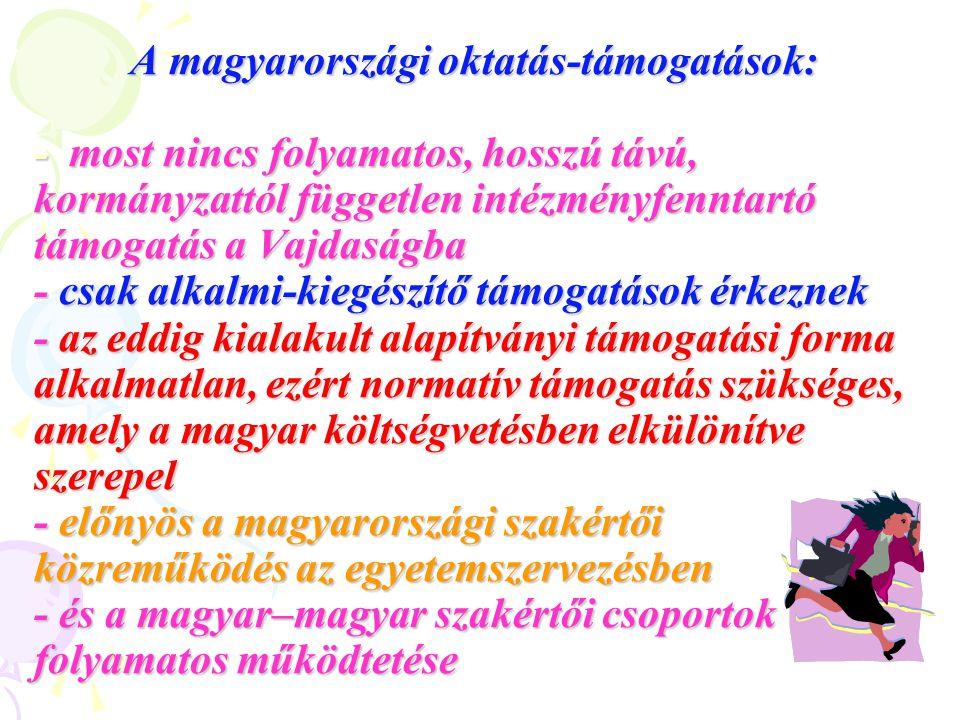 Ha a vajdasági magyar értelmiséget itthon szeretnénk marasztalni, biztosítani kell számukra a teljes magyar oktatást, óvodától egyetemig.