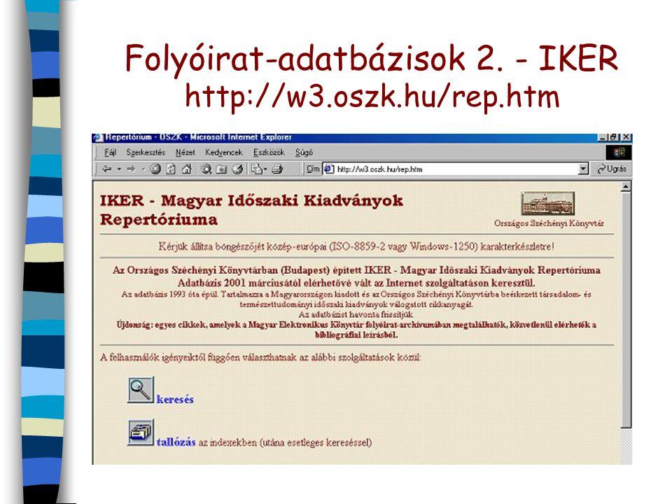 Folyóirat-adatbázisok 2.