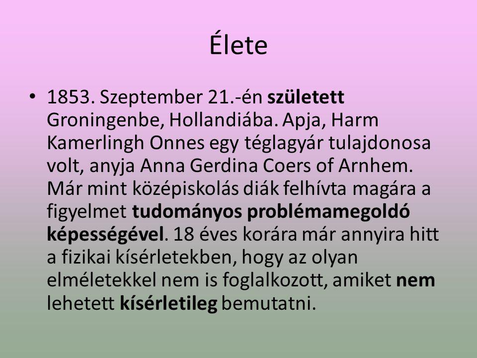 Élete 1853.Szeptember 21.-én született Groningenbe, Hollandiába.