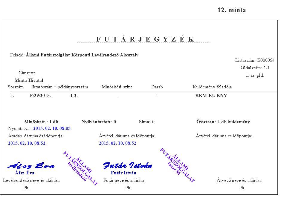 EU minősített adat nyilvántartása 3. és 21. gyak. tétel