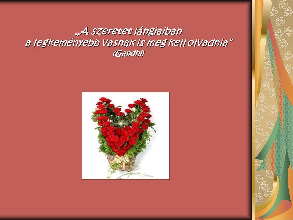 """""""A szeretet lángjaiban a legkeményebb vasnak is meg kell olvadnia (Gandhi)"""
