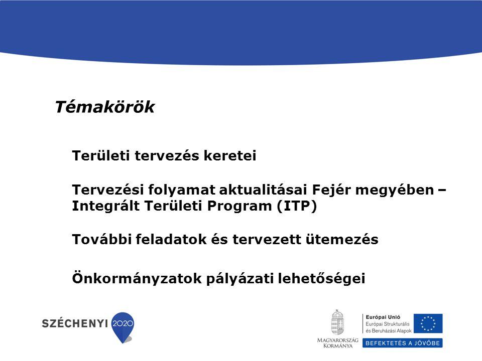 Decentralizált források három területi szinten, Fejér megyei Az 1702/2014.