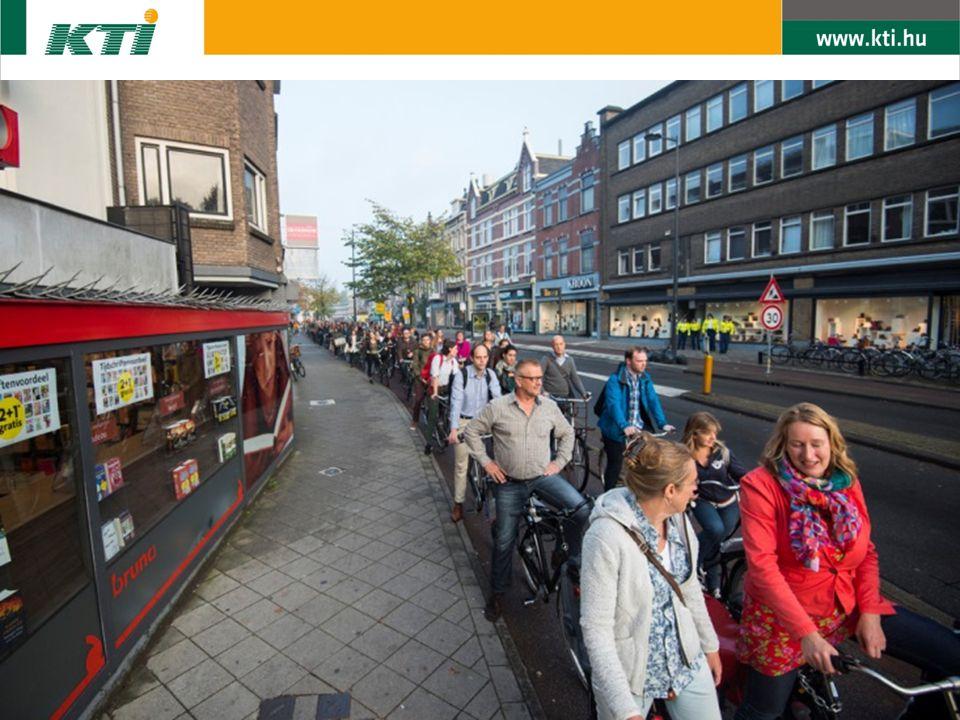 """Új kerékpáros politika előzmények: 1995 – """"cégkerékpárok bevezetése 2009: új kormányhatározat -> aktív kerékpáros politika (""""Fietsen in Nederland… een tandje erbij ) 70 millió EUR többletforrás –35 m EUR kerékpár tárolókra –25 m EUR kerékpáros gyors utakra –10 m EUR további intézkedésekre"""