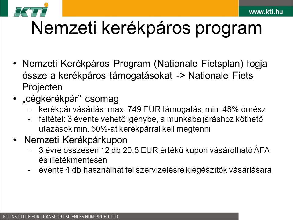 """Nemzeti kerékpáros program Nemzeti Kerékpáros Program (Nationale Fietsplan) fogja össze a kerékpáros támogatásokat -> Nationale Fiets Projecten """"cégkerékpár csomag -kerékpár vásárlás: max."""
