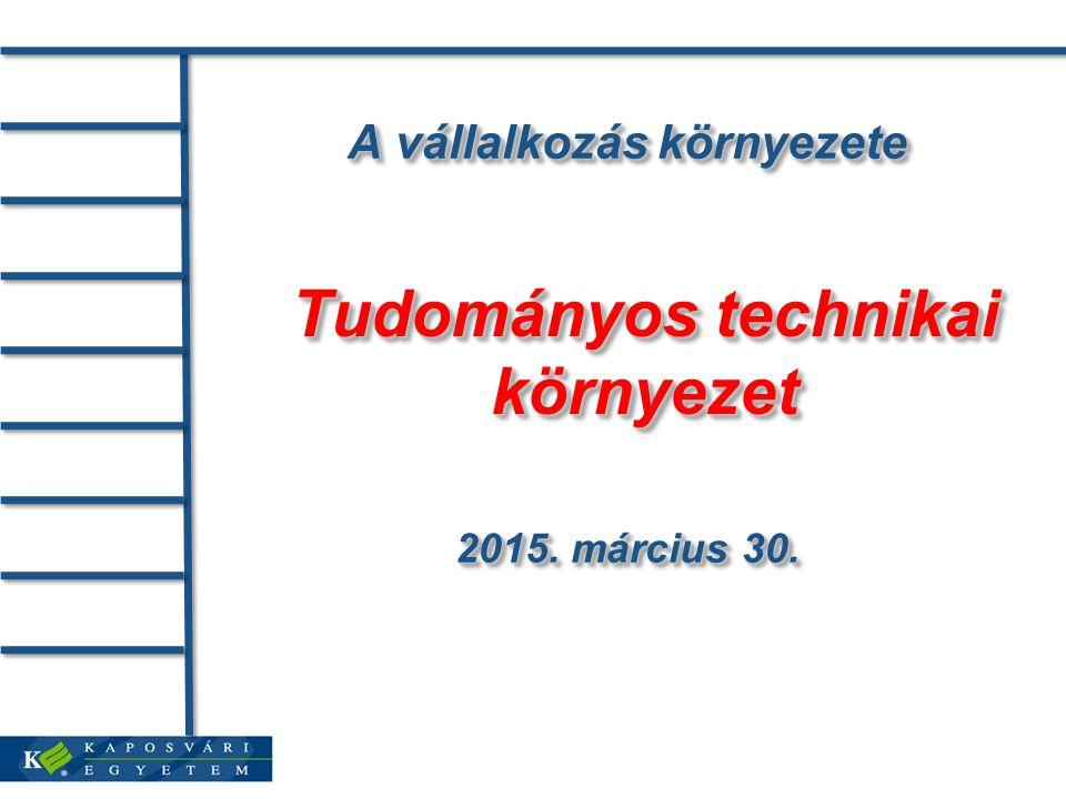 A vállalkozás környezete 2015. március 30.2015. március 30.2015.
