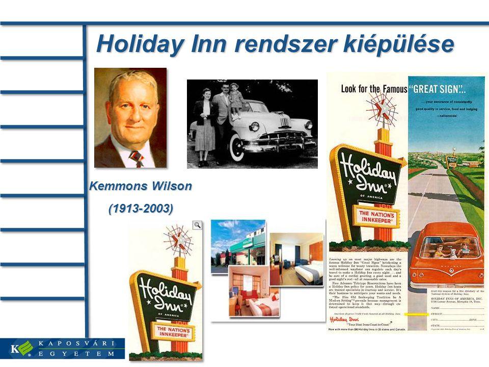 Holiday Inn rendszer kiépülése Kemmons Wilson (1913-2003)