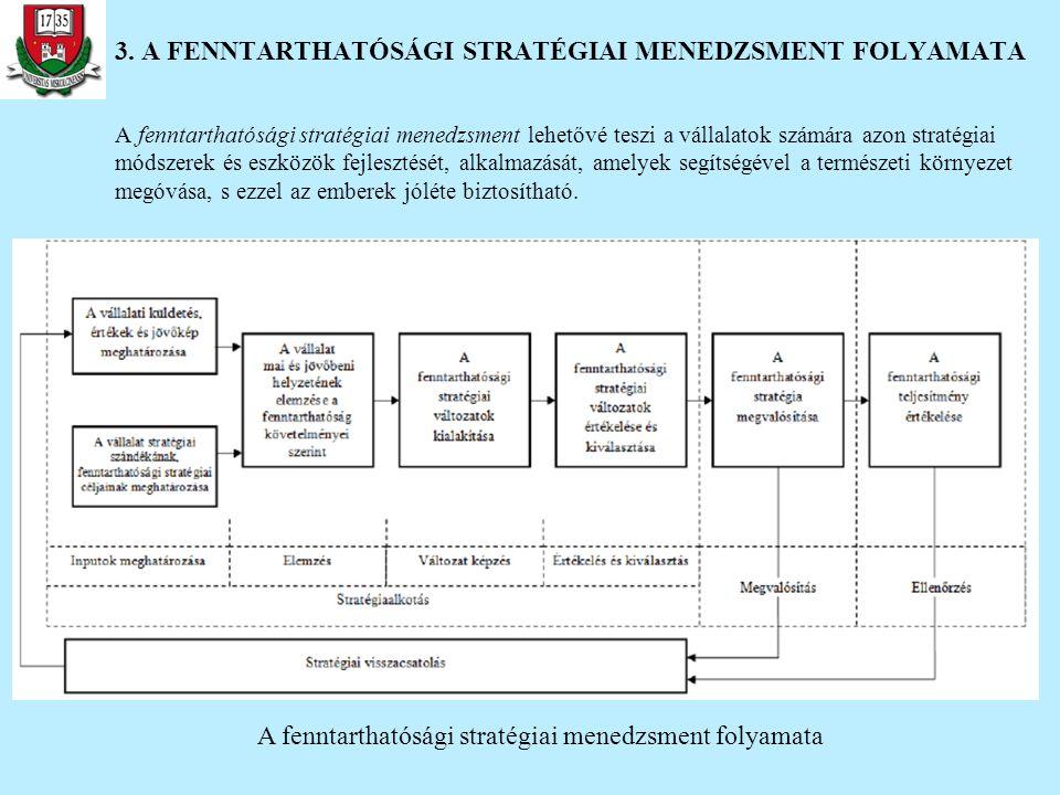 A fenntarthatósági stratégiai menedzsment lehetővé teszi a vállalatok számára azon stratégiai módszerek és eszközök fejlesztését, alkalmazását, amelye