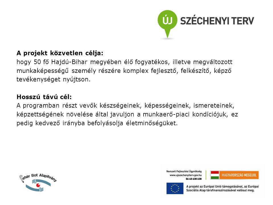 A projekt megvalósítására a Magyar Állam és az Európai Unió által nyújtott vissza nem térítendő támogatás összege 59.992.500 Ft.