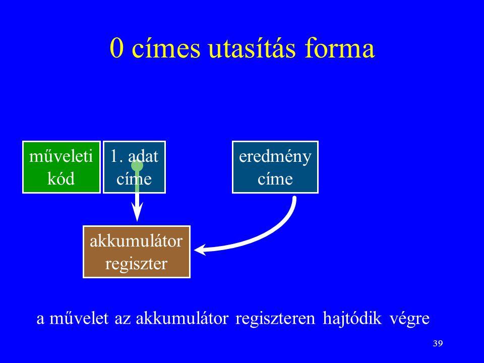 39 0 címes utasítás forma műveleti kód 1.