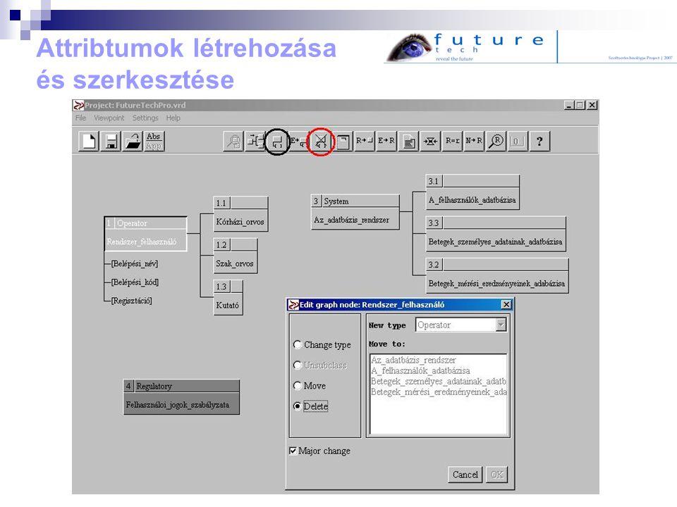Attribtumok létrehozása és szerkesztése