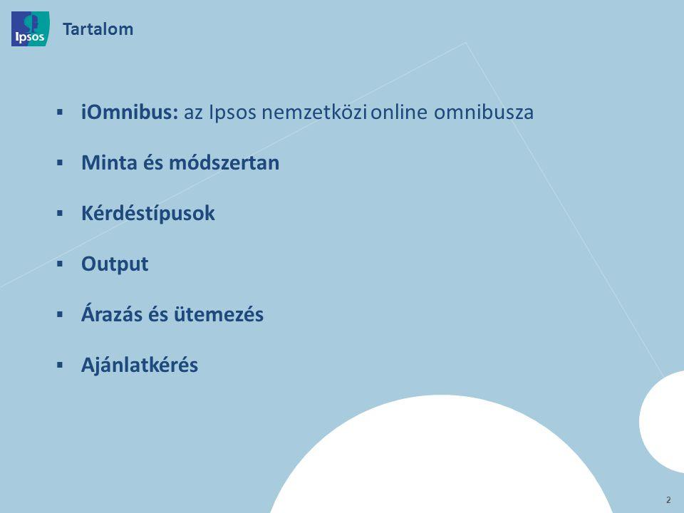iOmnibus Az Ipsos nemzetközi online omnibusza