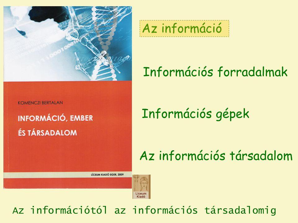 Az információ mint üzenet Az információ mint alakzat (Milyen formában jelenik meg?) 1.2.Az információfogalom értelmezései