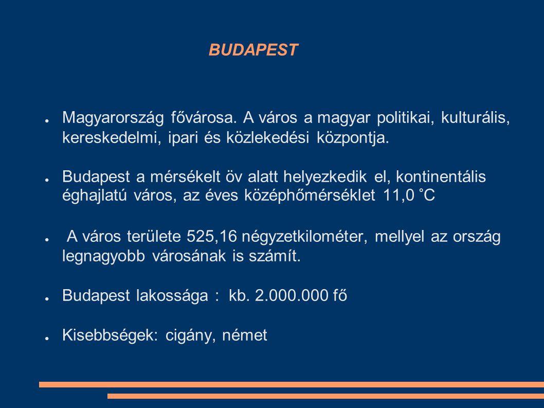 BUDAPEST ● Magyarország fővárosa.