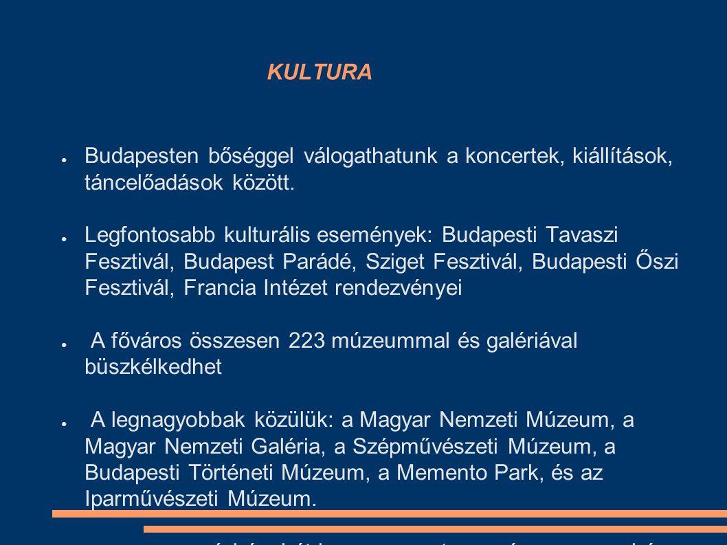 KULTURA ● Budapesten bőséggel válogathatunk a koncertek, kiállítások, táncelőadások között.