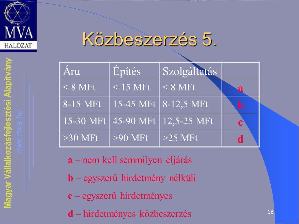 16 Közbeszerzés 5.