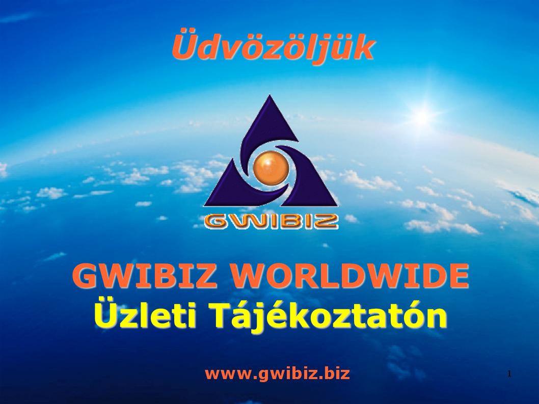 Üdvözöljük GWIBIZ WORLDWIDE Üzleti Tájékoztatón